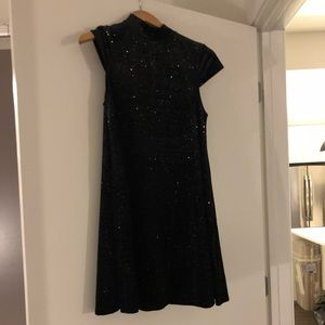French Connection black mock neck cocktail dress